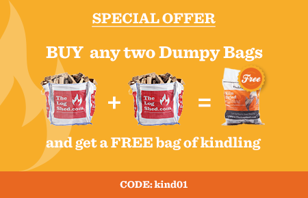 Buy any 2 Dumpy Bags and get a FREE Bag of Kindling