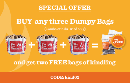 Buy any 3 Dumpy Bags and get 2 FREE Bags of Kindling