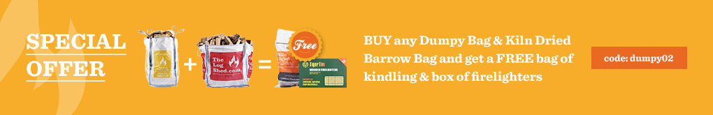 Buy any Dumpy Bag & Kiln Dried Barrow bag and get free Kindling and Firelighters