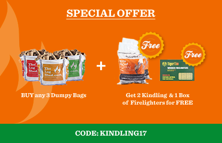 Buy any 3 Dumpy Bags get 2 free Kindling & a box of Firelighters