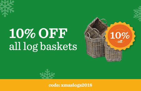 10% Off all Log Baskets