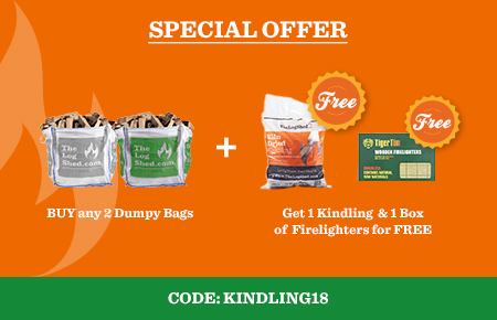 Buy any 2 Dumpy Bags get 1 Kindling & 1 Firelighters for FREE