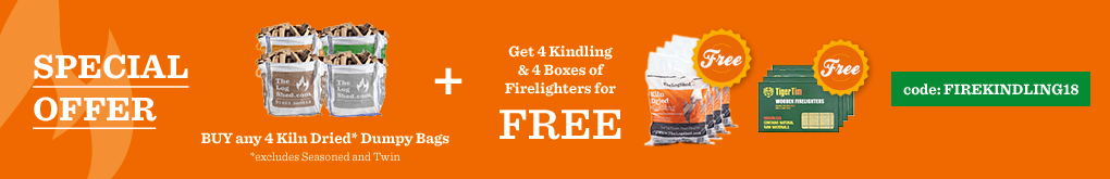Buy any 4 Dumpy Bag get 4 Kindling & 4 Boxes of Firelighters for FREE