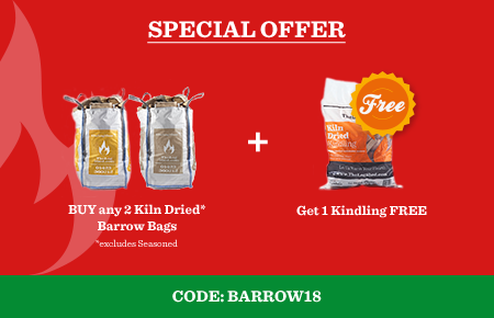 Buy any 2 Kiln Dried Barrow Bags get 1 Kindling for FREE