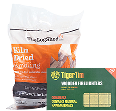 Get 1 Free Kindling and 1 Free Firelighters when you buy any 2 dumpy bags!