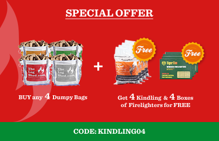 Buy any 4 Dumpy Bags get 4x Kindling & 4x Firelighters, use code kindling04